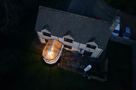 Residential house taken in twilight