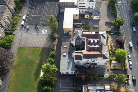 Clifton High School from above 3